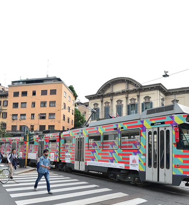 #BCM15 Tram in giro per la città di Milano